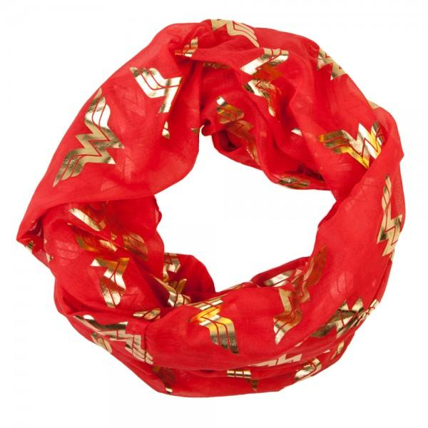 DC Comics Wonder Woman Foil Viscose Scarf