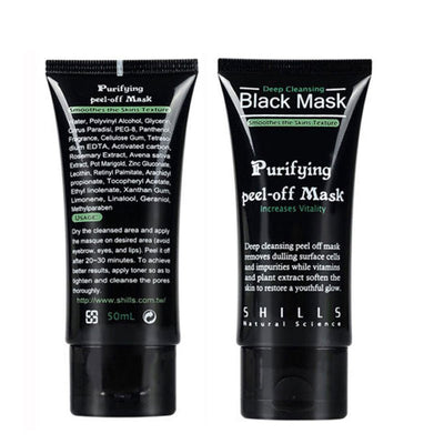 Deep Cleansing Charcoal Black Mask - Pore Minimizing, Peel Off Blackhead Remover-Blackhead Remove-And 1 For All