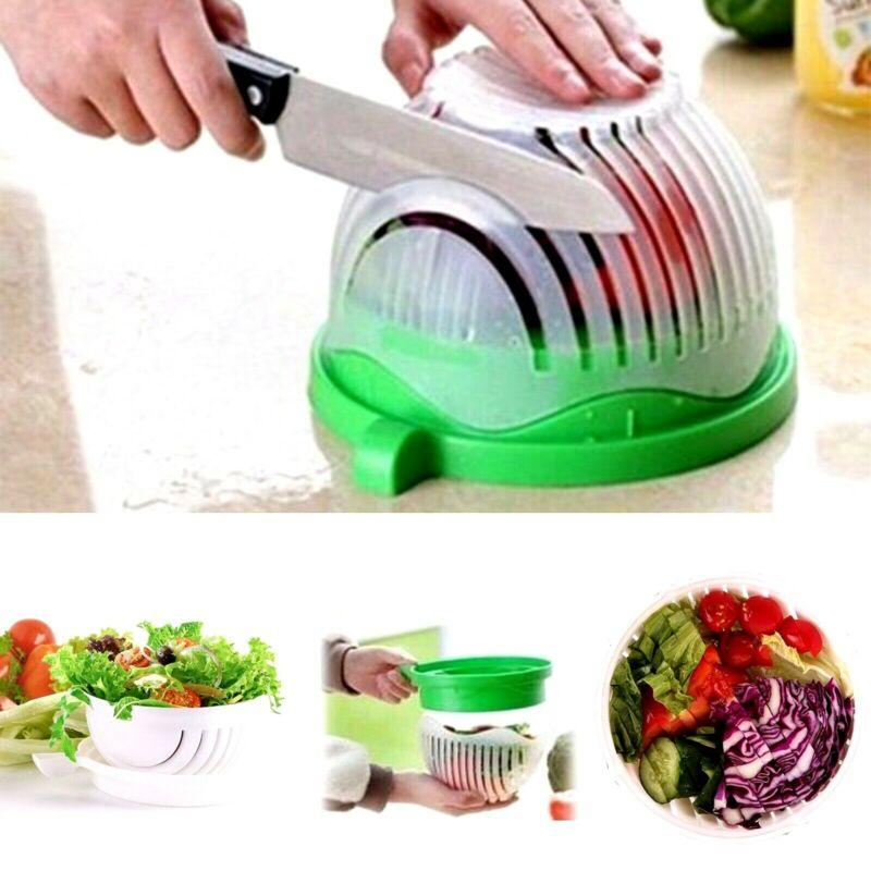 Salad Cutter Bowl | Perfect Fruit Vegetable Slicer Chopper
