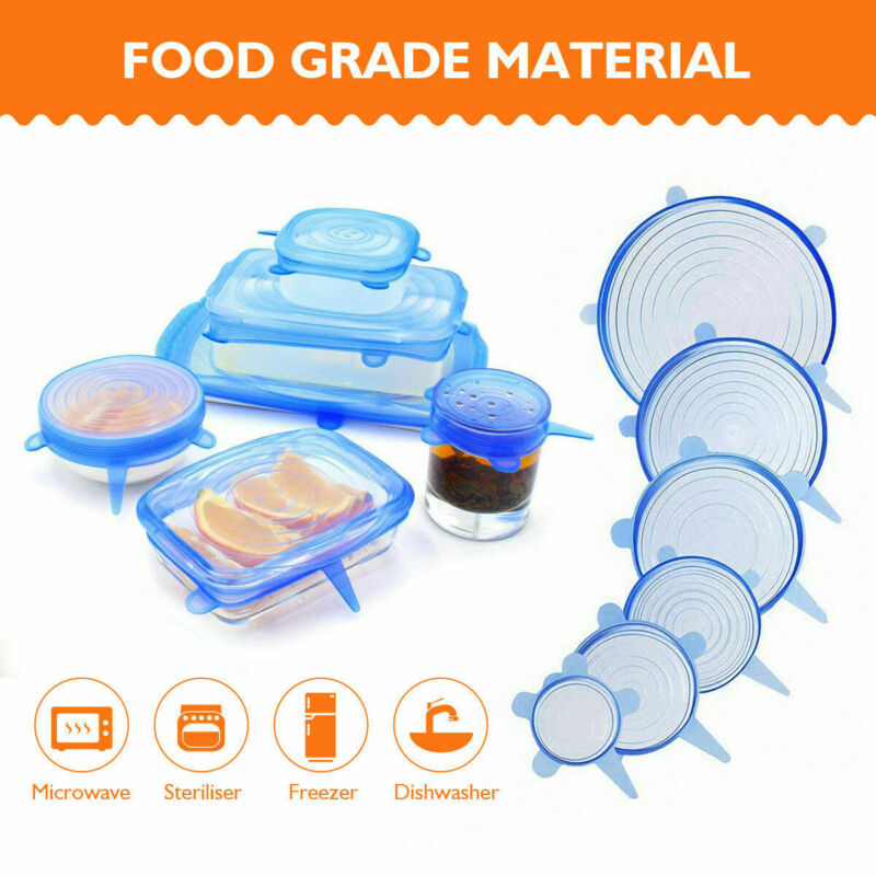 Stretch and Seal Lids | 6 pcs. Reusable
