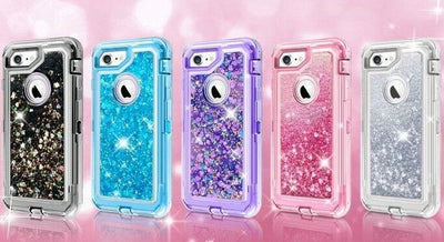 Glitter iPhone Case | Liquid - Apple iPhone Cases 6, 6s, 6sPlus, 7, 7Plus, 8, 8Plus, XR, XS, XS MAX