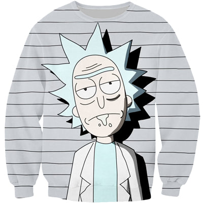 Rick and Morty 3D Print Sweatshirt