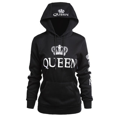 King and Queen Hoodies - His and Her Sweatshirts for Couples & Lovers