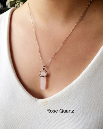 Women's Multi Color Quartz Pendant Chain Crystal Necklace Jewelry-Necklace-And 1 For All