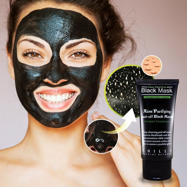 Charcoal Mask To Clear Pores And Detox Skin: Activated Charcoal Face Mask Peel-Blackhead Remover-Skin