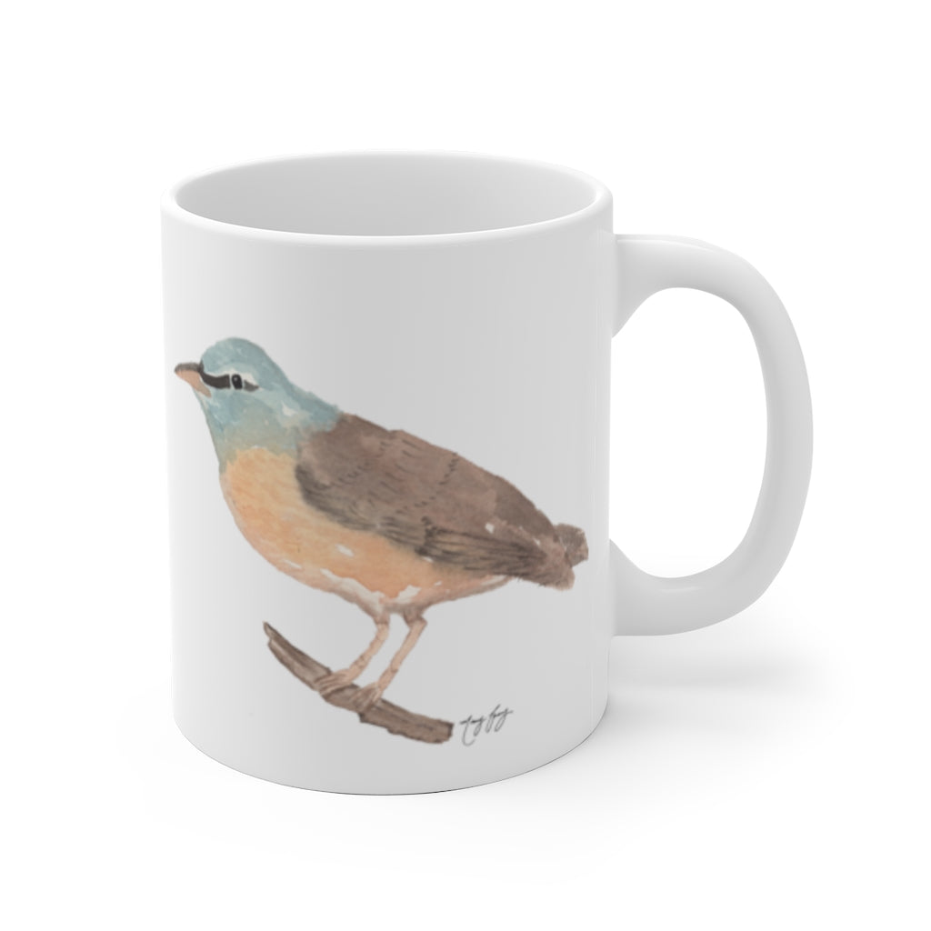Eyebrowed Thrush Ceramic Mug