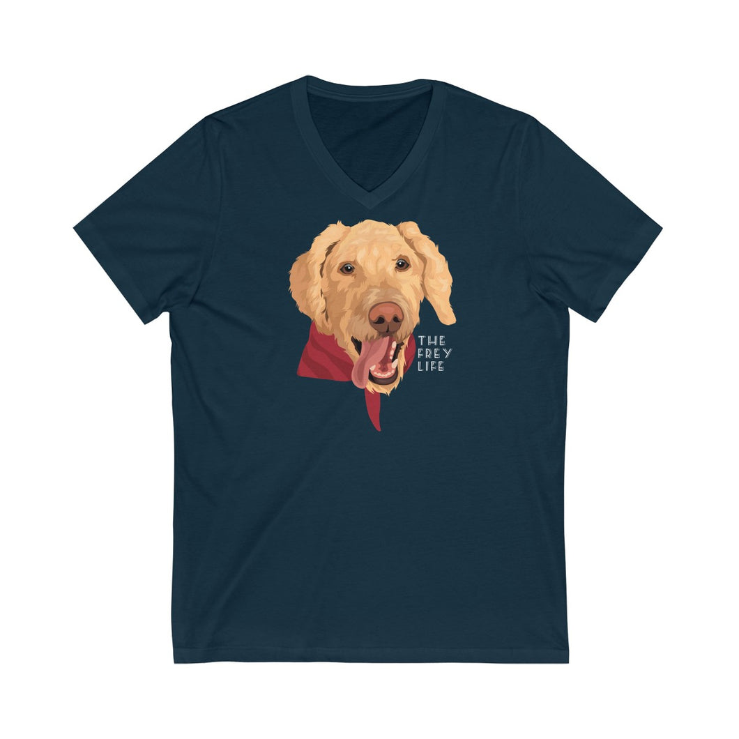 Ollie Boy - Navy V-Neck