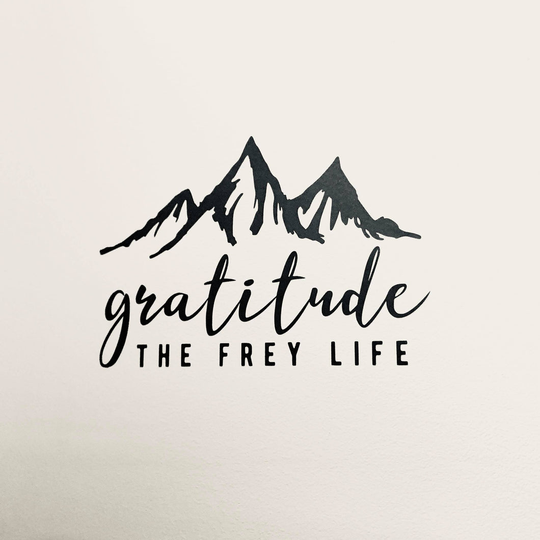 Gratitude Wall Decal