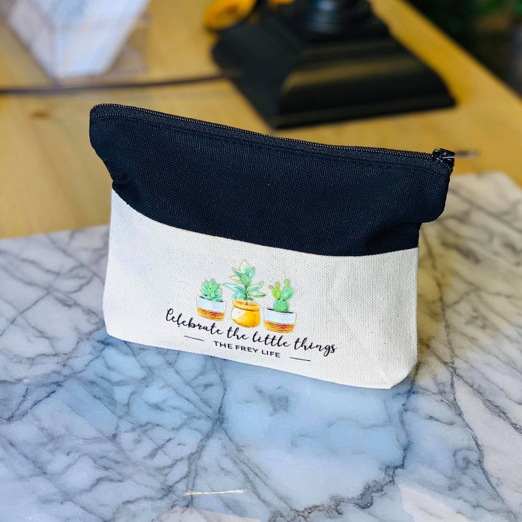 Celebrate the Little Things - Zipper Pouch
