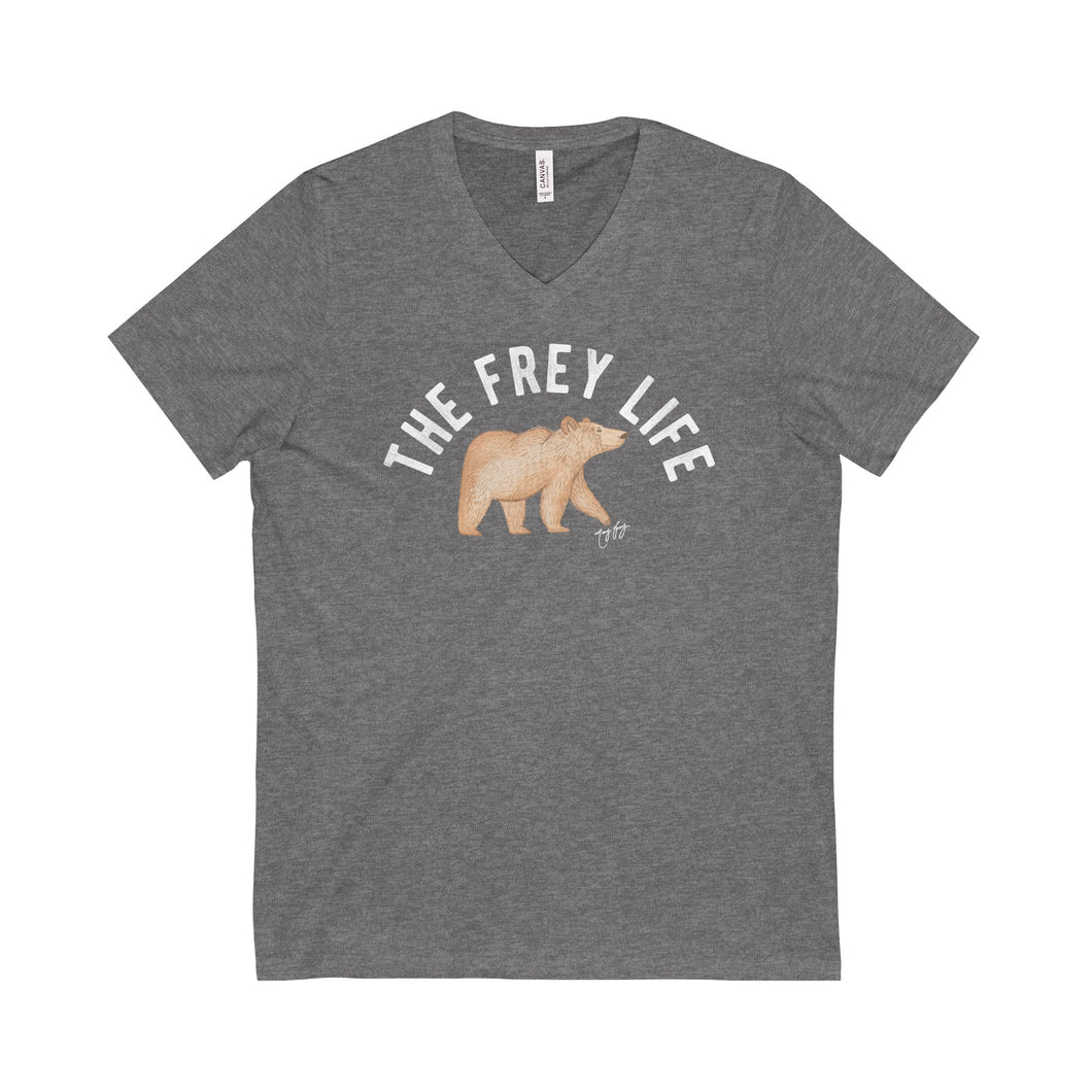 Frey Life Bear - Heather Gray V-Neck