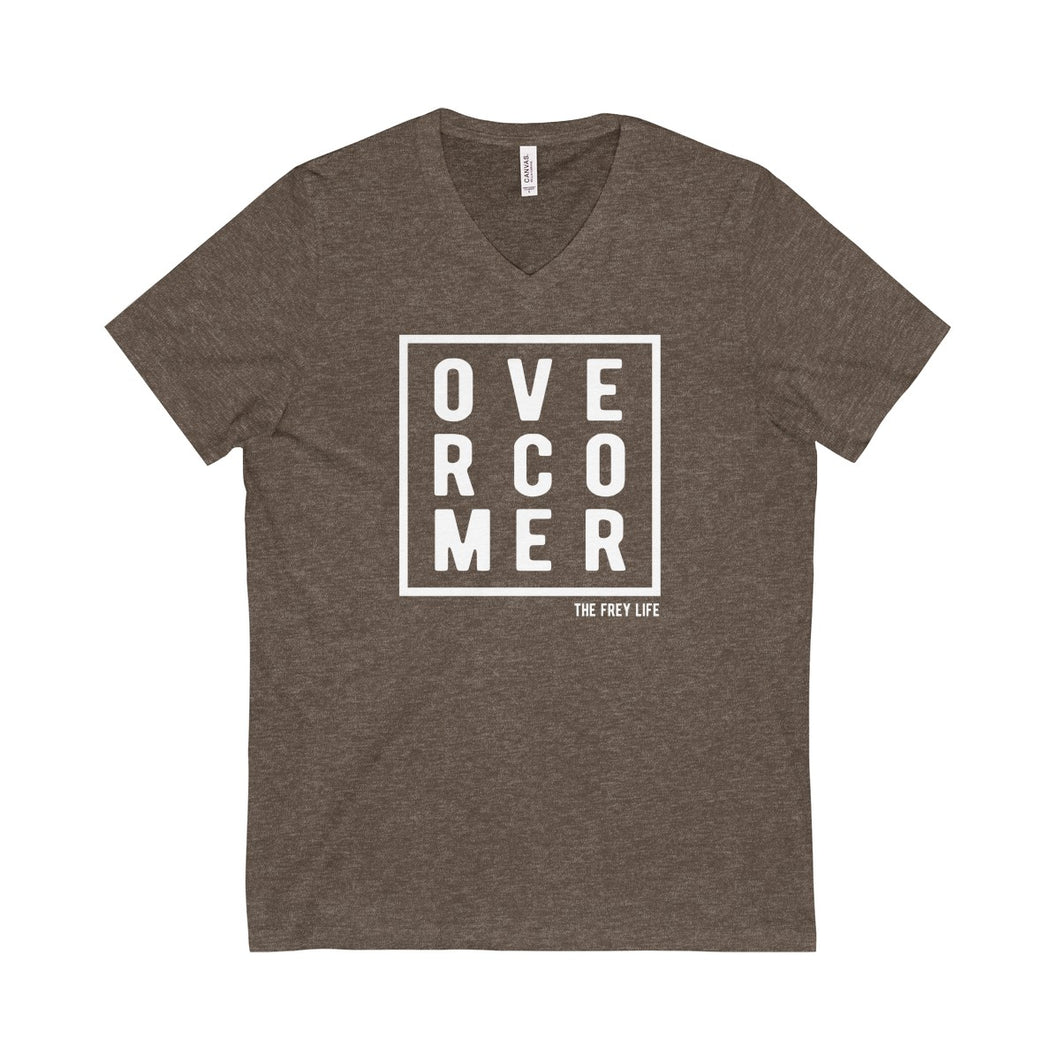 OVERCOMER - Heather Brown V-Neck