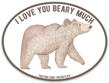 I Love You Beary Much Stickers (3 Pack)