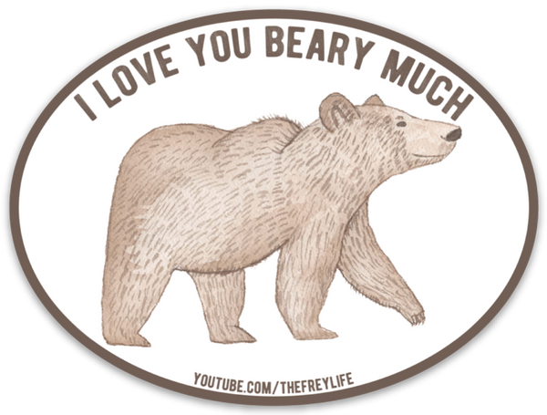 I Love You Beary Much Stickers
