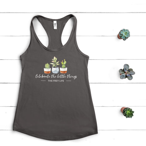 Celebrate The Little Things Racerback Tank