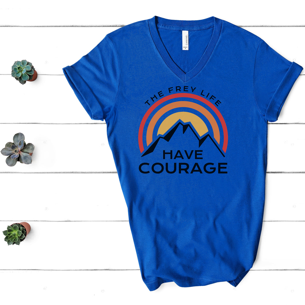 HAVE COURAGE | Royal Blue V-Neck