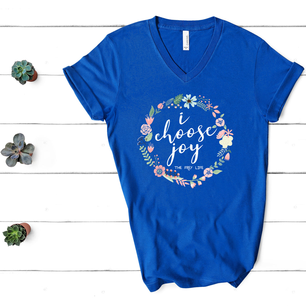 I CHOOSE JOY - Royal V-Neck