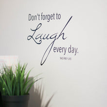 """Don't Forget to Laugh"" Wall Decal + 8x10 Bundle"