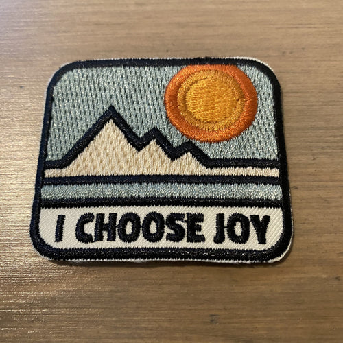I Choose Joy Iron-on Patch