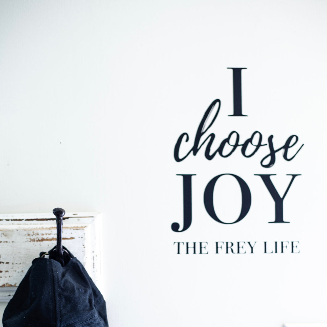 I Choose Joy - Vinyl Wall Decal