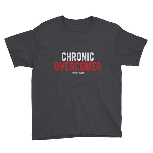 Chronic Overcomer - Black Youth T-Shirt