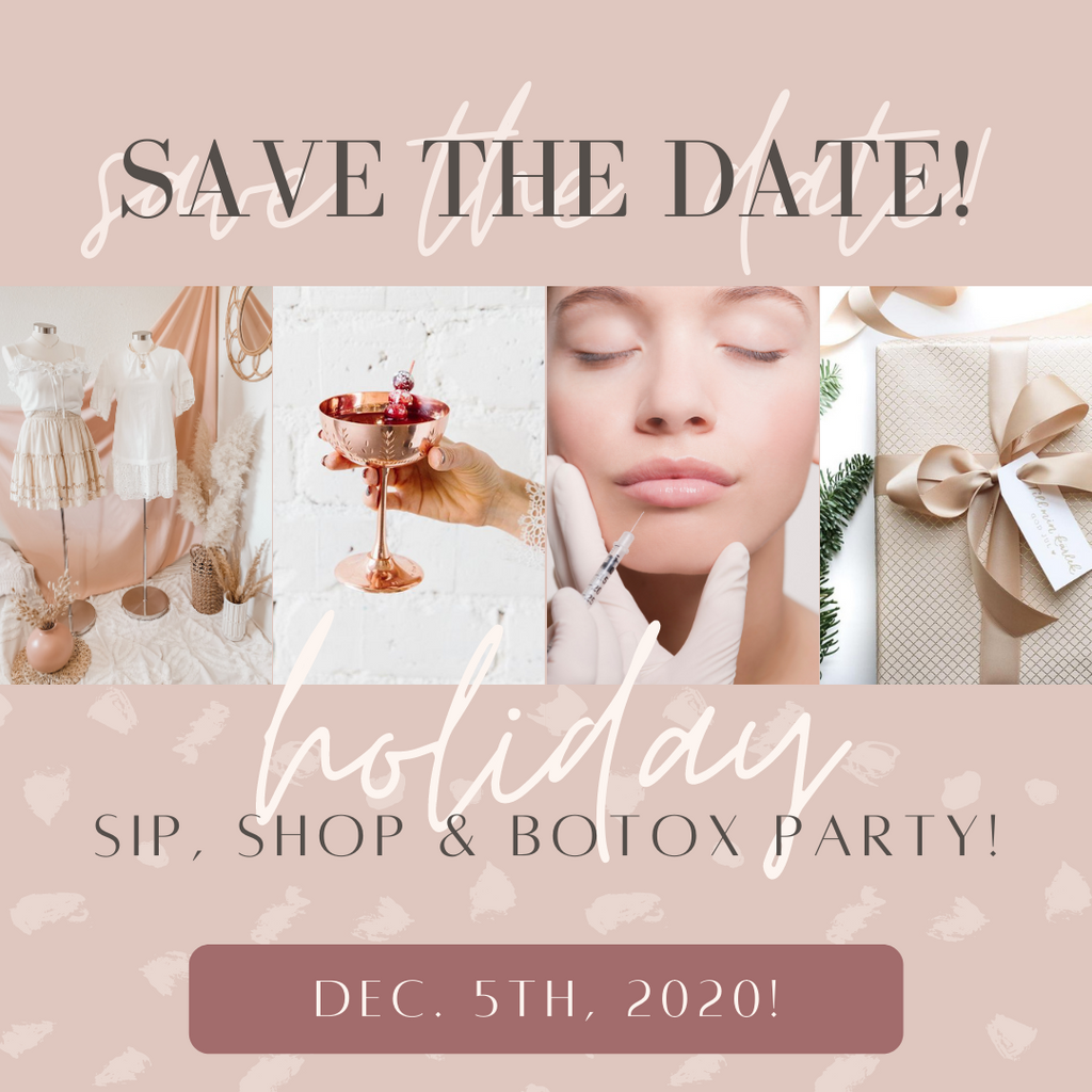 Holiday Sip, Shop & Botox Pop-Up Event!