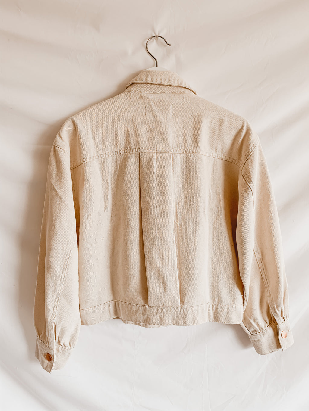 Elio Cream Denim Jacket