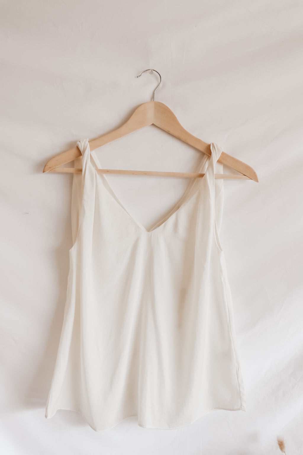Twist Strap Off-White Tank Top