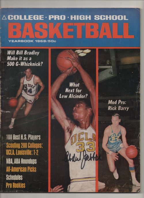 "1968 College-Pro-High School Basketball Yearbook ""What's Next For Lew Alcindor"" Signed Kareem Abdul Jabbar"