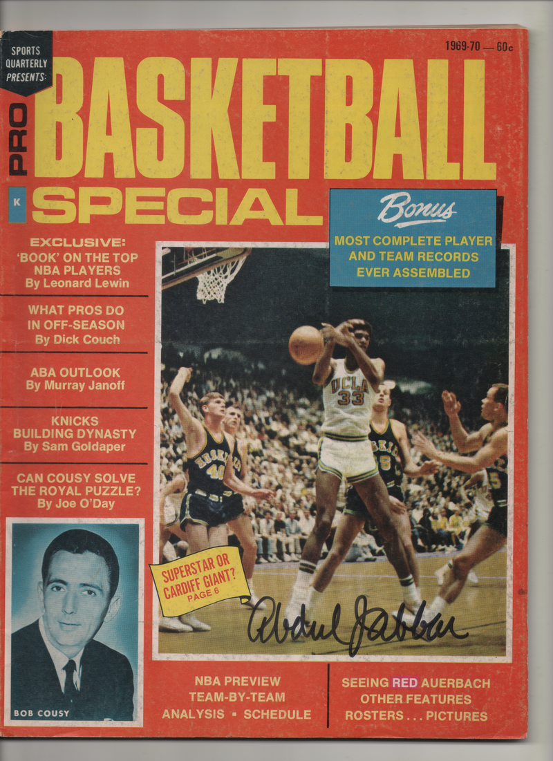 "1969-70 Sports Quarterly Presents Pro Basketball Special ""Superstar or Cardiff Giant?"" Signed Kareem Abdul Jabbar"