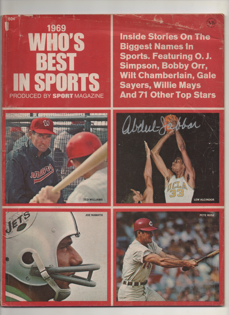 1969 Who's Best In Sports Produced By Sports Magazine - Signed Kareem Abdul Jabbar