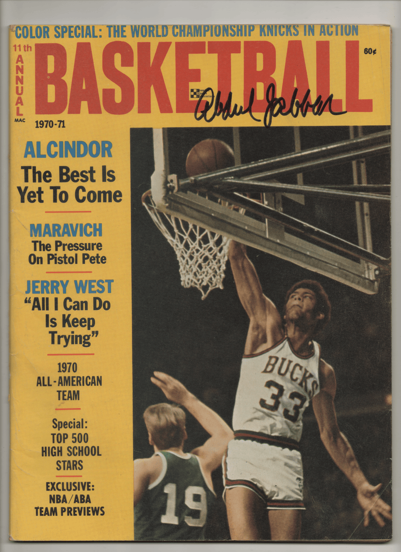 1970 11th Annual Basketball - Alcindor: The Best is Yet to Come - Signed by Kareem Abdul-Jabbar