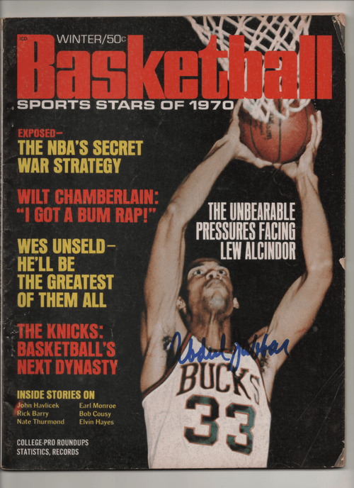 1970 Basketball-The Unbearable Pressures Facing Lew Alcindor - Signed by Kareem Abdul-Jabbar