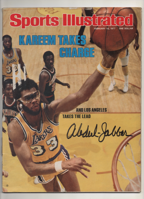"1977 Sports Illustrated ""Kareem Takes Charge And Los Angeles Takes The Lead"" Signed Kareem Abdul Jabbar"