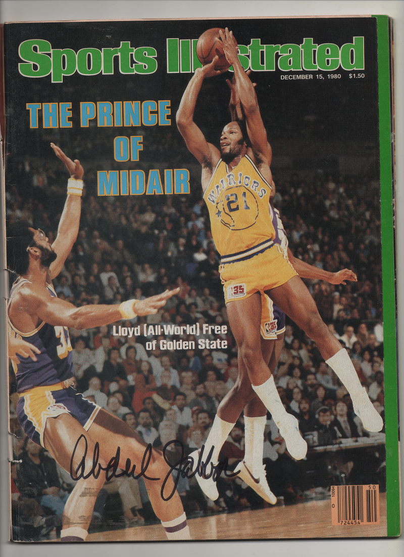 "1980 Sports Illustrated ""Lloyd (All World) Free of Golden State: The Prince of Midair"" Signed Kareem Abdul Jabbar"