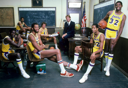 "Large Format 1981 Lakers Photo (38"" x 28"")"