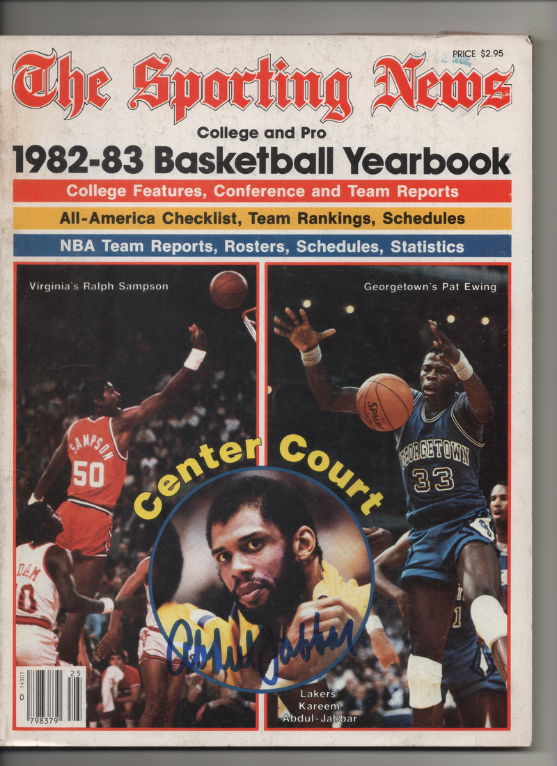 "1982-83 The Sporting News Basketball Yearbook ""The Lakers Kareem Abdul Jabbar"" Signed Kareem Abdul Jabbar"