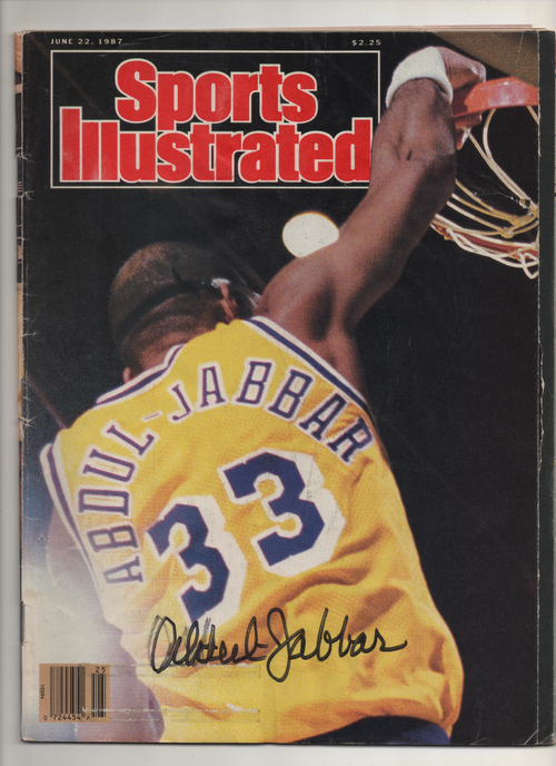 "1987 Sports Ilustrated ""Abdul-Jabbar"" Signed Kareem Abdul Jabbar"
