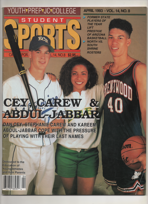 "1993 Student Sports Youth-Prep-JC-College ""Cey, Carew & Abdul Jabbar"" From The Personal Collection of Kareem Abdul Jabbar"