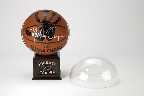 Michael Cooper Personally Hand-Printed + Signed NBA Basketball