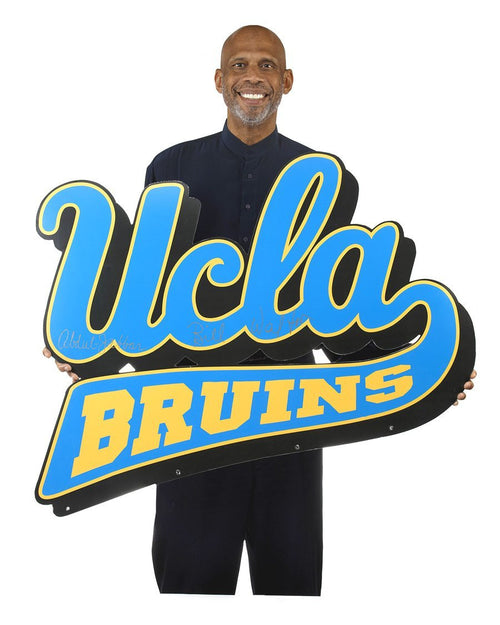 Autographed UCLA Banner - Dual Signed by Bill Walton