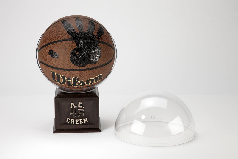 A.C. Green Personally Hand-Printed + Signed NCAA Basketball