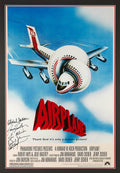 Autographed Airplane Poster Hand-Signed by Kareem Abdul-Jabbar, Cast & Crew