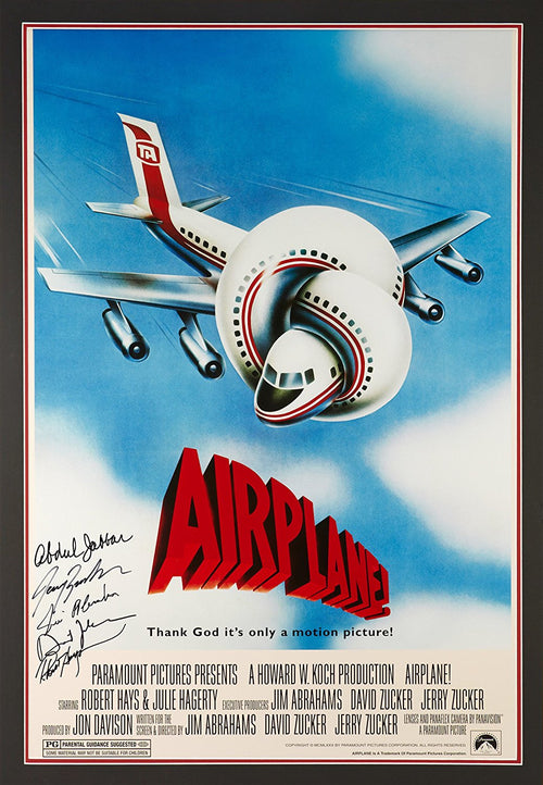 Autographed Airplane Poster