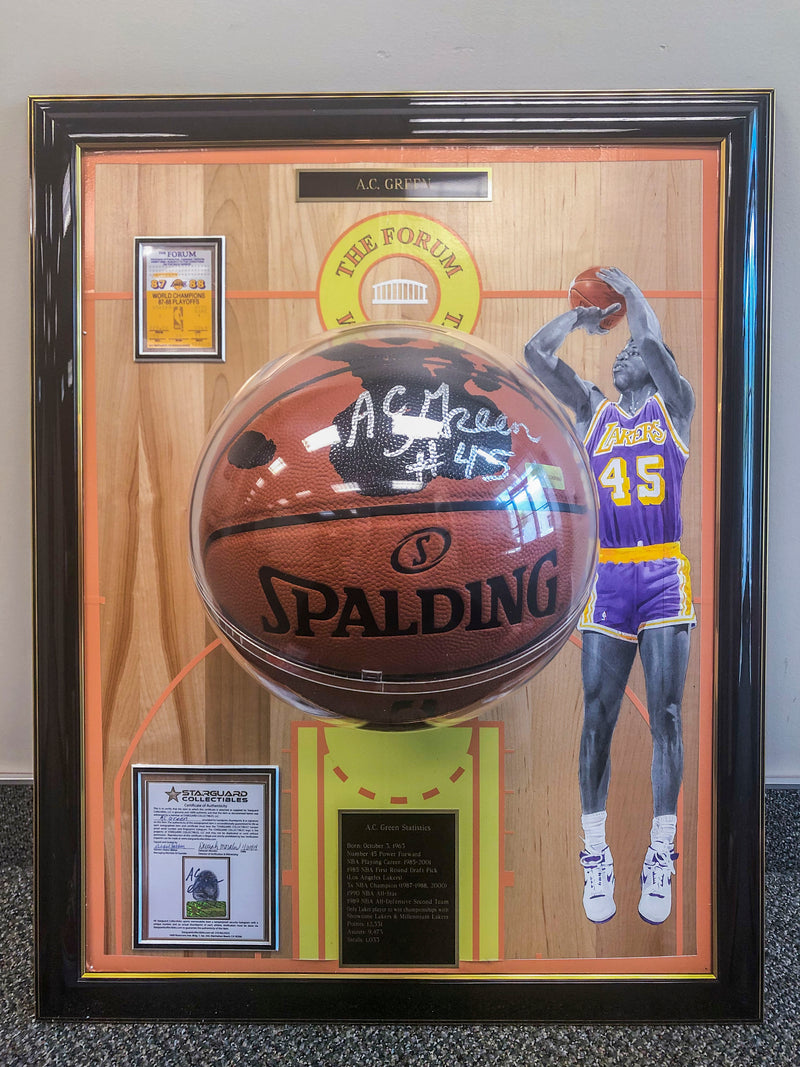 "A.C. Green ""Lakers Floor Board"""