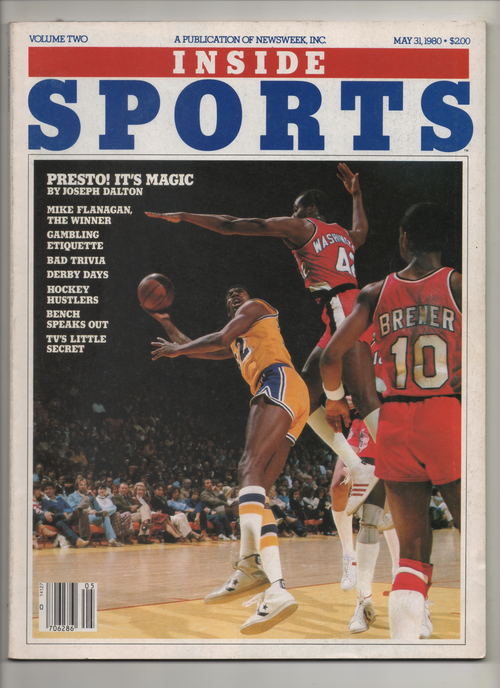 "1980 Inside Sports by Newsweek ""Presto! It's Magic"" From The Personal Collection of Kareem Abdul Jabbar"