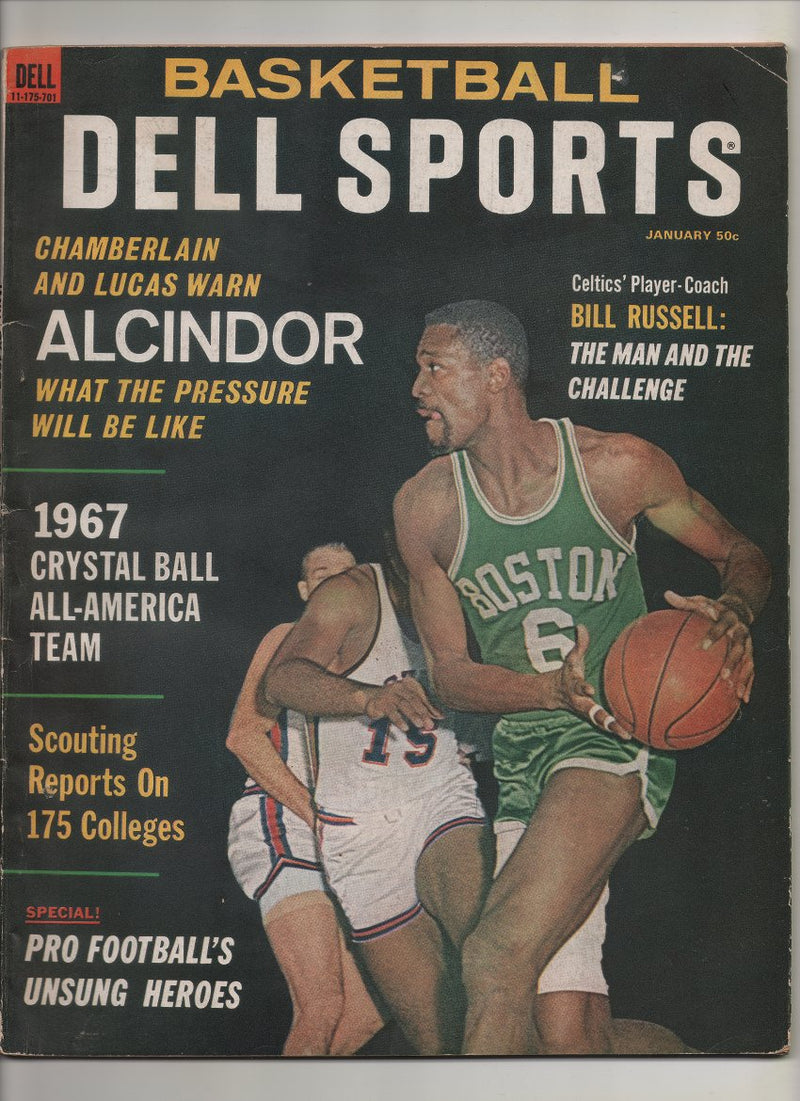 "1967 Basketball Del Sports ""Chamberlain & Lucas Warn Alcindor What The Pressure Will Be Like"""