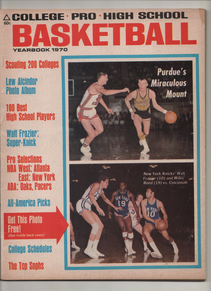 "1970 Basketball Yearbook College-Pro-High School ""Lew Alcindor Photo Album"""