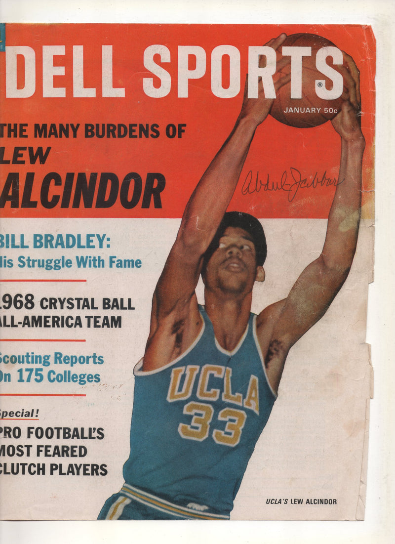 "1968 Dell Sports ""The Many Burdens of Lew Alcindor"" Signed Kareem Abdul Jabbar"