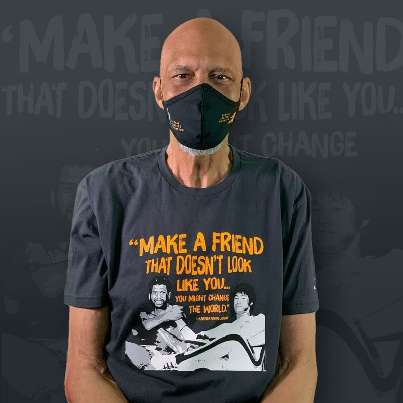 Limited Edition Bruce Lee Friends Tee & Mask Bundle (Make a Friend That Doesn't Look Like You...)