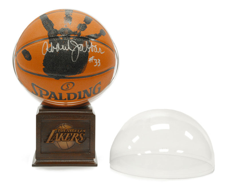 Kareem Abdul Jabbar Signed NBA Basketball + Actual Hand-Print